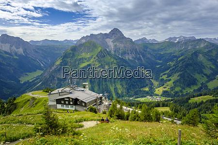 austria vorarlberg mittelberg mountain station gipfelstubalocated
