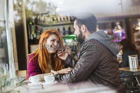 couple in love in a coffee