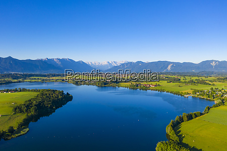 scenic view of riegsee lake and