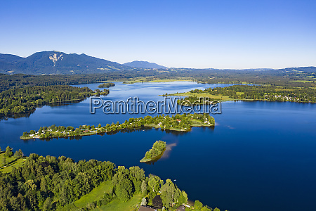 scenic view of staffelsee lake and