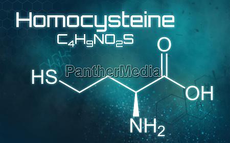 chemical formula of homocysteine on a