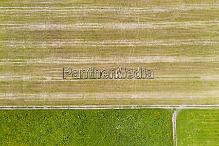 aerial view of agricultural field beuerberg