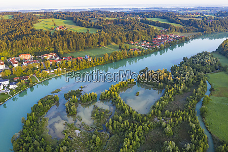 aerial view of isar reservoir at