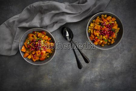 spicy oriental pumpkin stew with hokkaido
