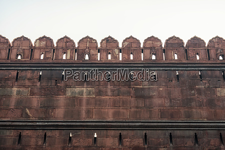 red fort fortress wall