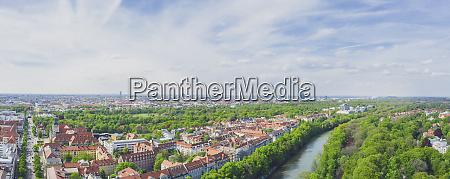 germany bavaria munich panorama of isar