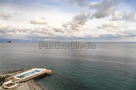 mediterranean sea at noli liguria italy