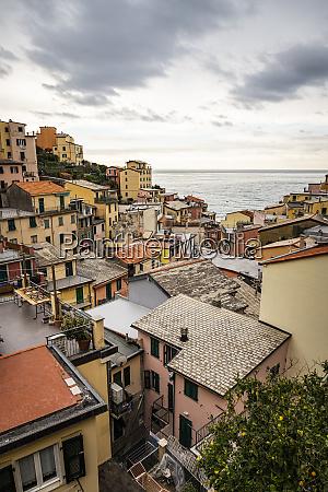 townscape of riomaggiore liguria italy