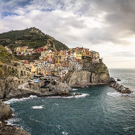 townscape of manarola liguria italy