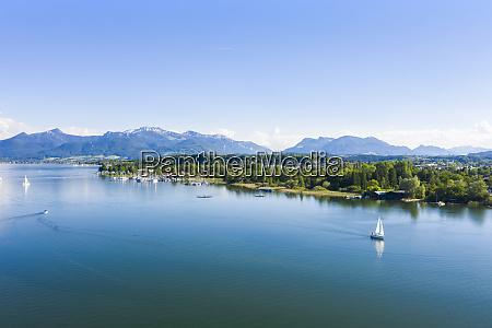 germany bavaria prien am chiemsee sailboats