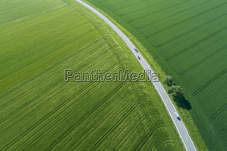 germany bavaria aerial view of countryside