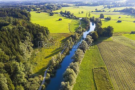 germany bavaria beuerberg aerial view of