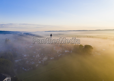 germany bavaria geretsried aerial view of