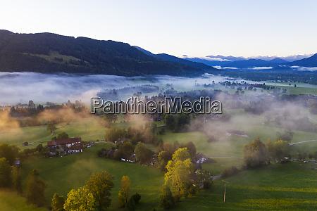 germany upper bavaria gaissach aerial view
