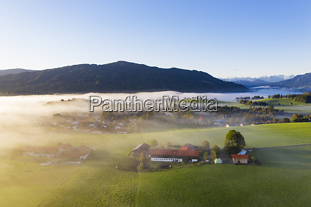 germany upper bavaria greiling aerial view