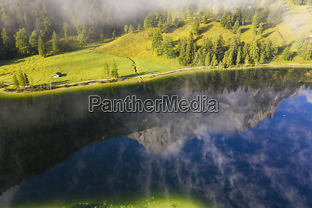 germany bavaria mittenwald aerial view of