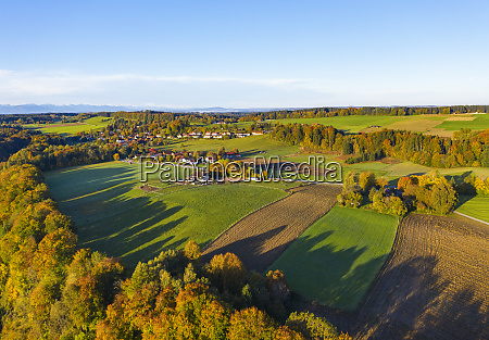 germany bavaria upper bavaria dorfen aerial