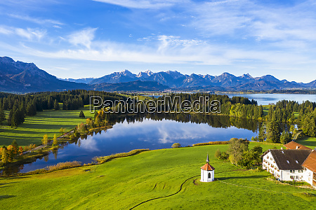 germany bavaria halblech aerial view of