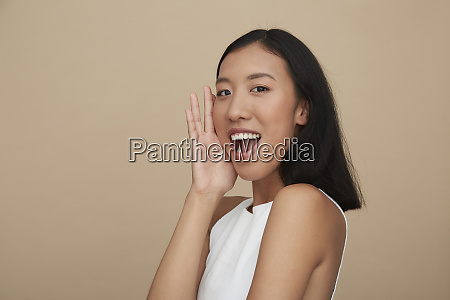 portrait of young female chinese woman