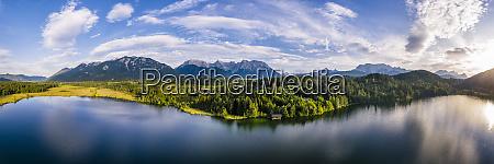 germany bavaria scenic panorama of wetterstein