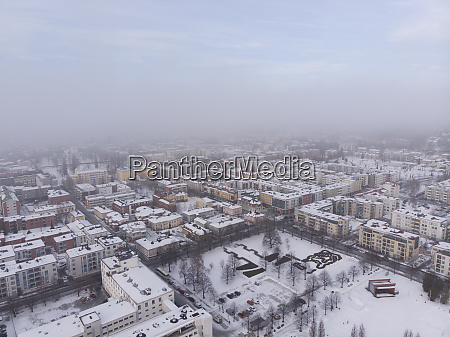 finland kuopio aerial view of city