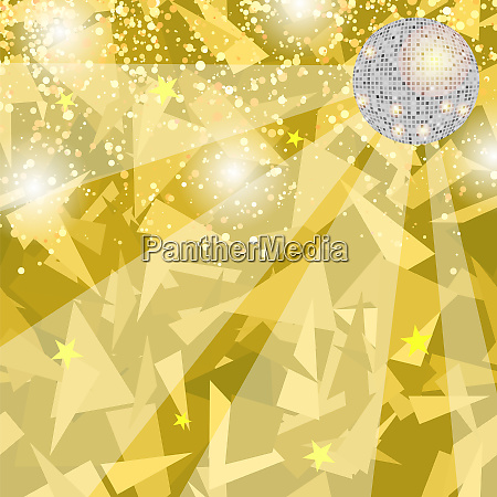 yellow night party background with mirror