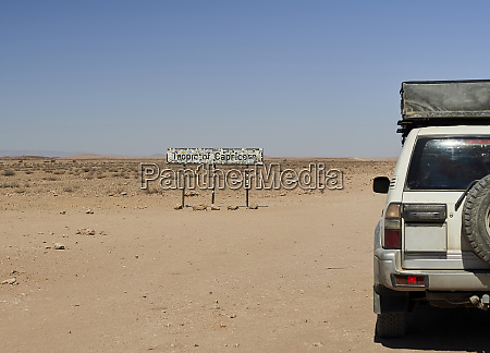 4x4 at the tropic of capricorn
