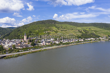 aerial view of mountain by rhine