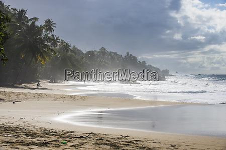 scenic view of waves splashing at