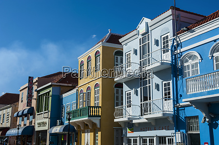 low angle view of colorful buildings