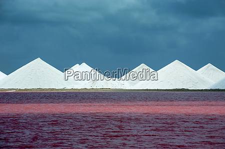 view of salt lake against blue