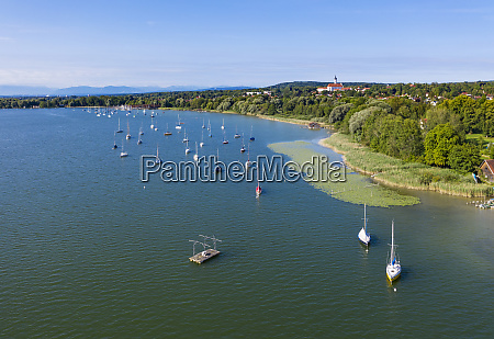 aerial view of boats in ammersee
