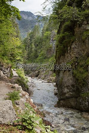 austria tyrol erpfendorf stream flowing under