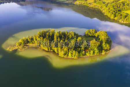 drone shot of worth island and