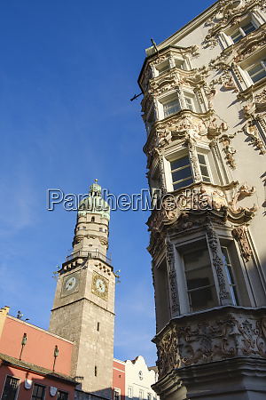 low angle view of stadtturm and