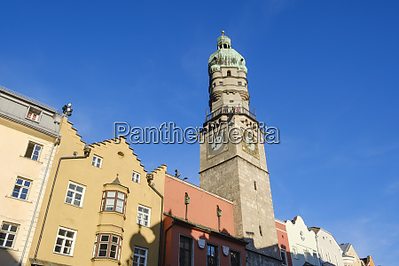low angle view of stadtturm against