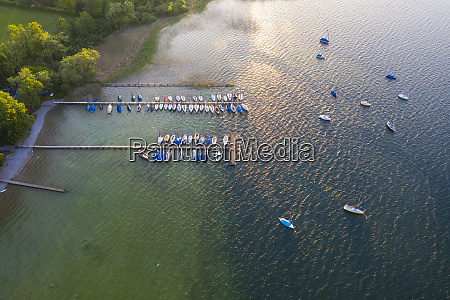 aerial view of jetty at gmund