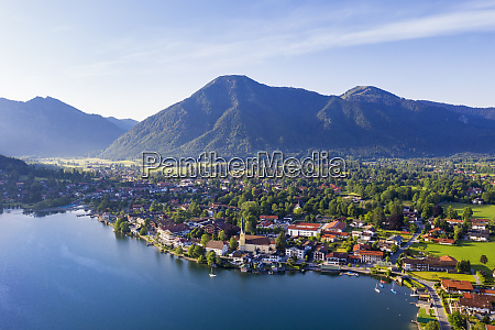rottach egern by lake tegernsee against