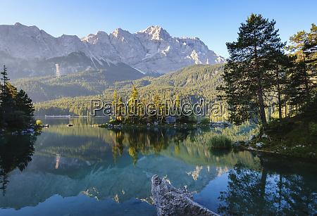 scenic view of eibsee lake braxen