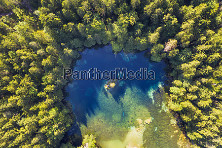 aerial view of badersee lake at