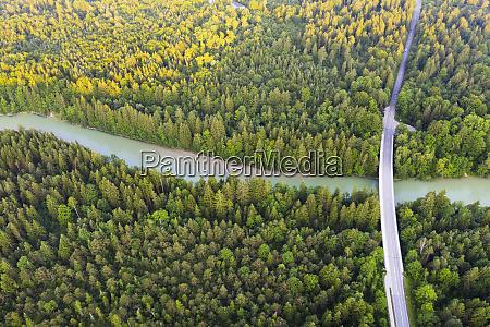 aerial view of tattenkofen bridge over