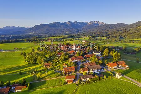 aerial view of buildings at wackersberg