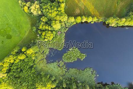 aerial view of schoenauer weiher bad