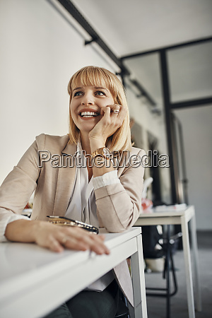 portrait of smiling businesswoman in a