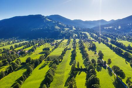 nature reserve hedgerow landscape gaissach lenggries