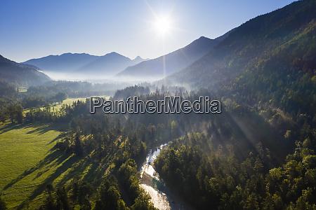 germany bavaria jachenau scenic mountainous landscape