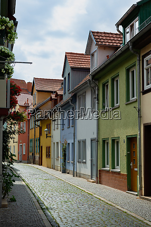 houses in the andreasviertel at erfurt