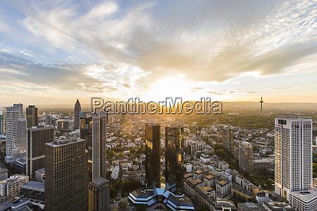 cityscape against cloudy sky frankfurt hesse