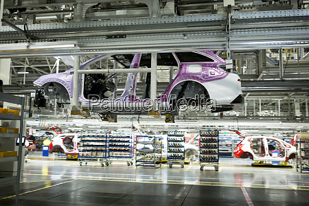 modern automatized car production in a