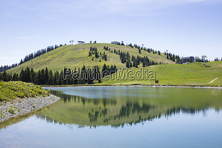 scenic view of tanzboden lake by